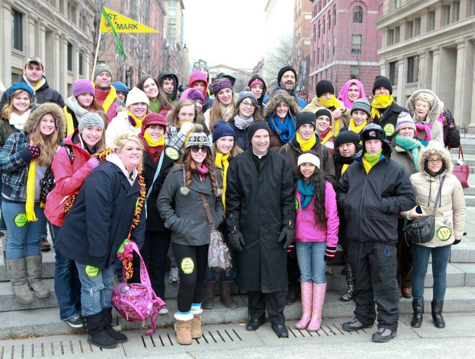 March for Life 2013 with Bishop Burbidge and St. Mark's Youth Group